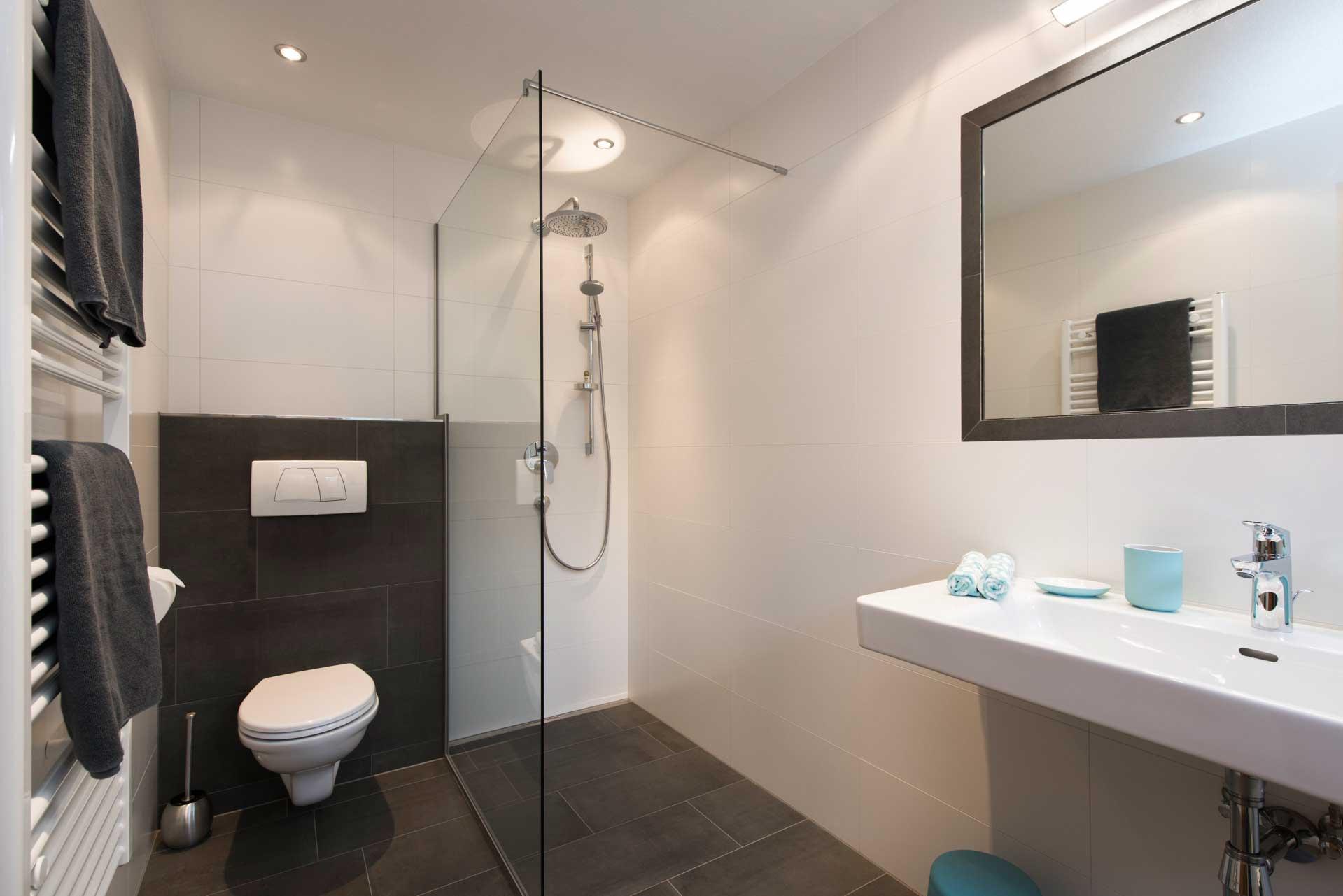 Ferienwohnung Siebenschläfer in Neustift im Stubaital - Badezimmer - Dusche